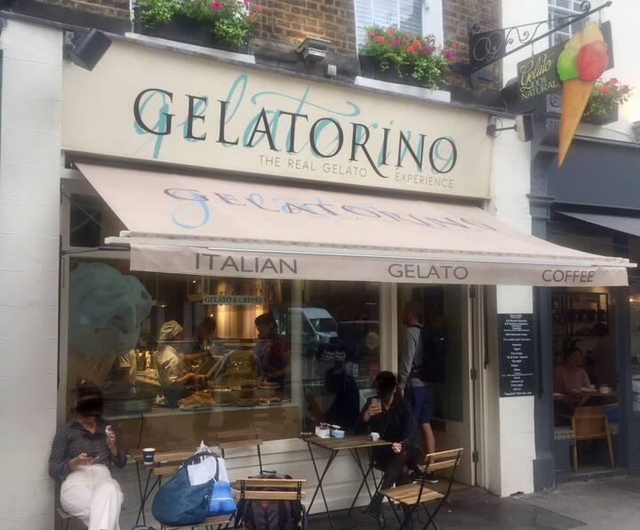 One of the Italian Gelato shops