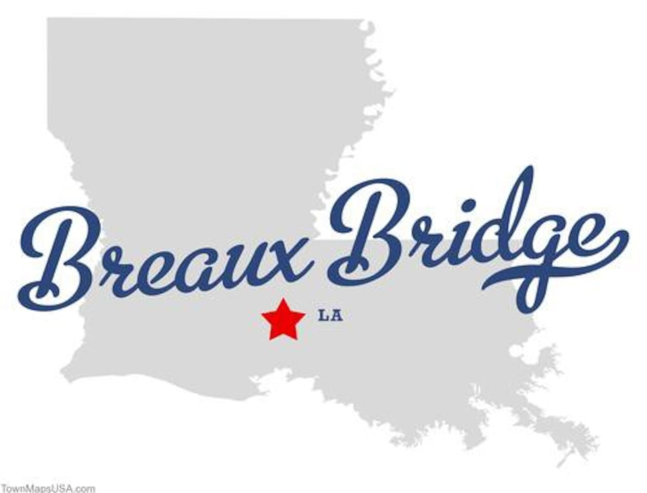 Breaux Bridge is located on Interstate 10 Exit 109, about 2 hrs from New Orleans or 3 hrs from Houston.