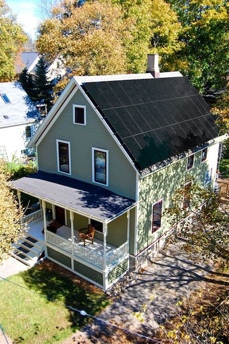 Oldest home in America to achieve net zero energy.  The home produces more energy than we use each year.