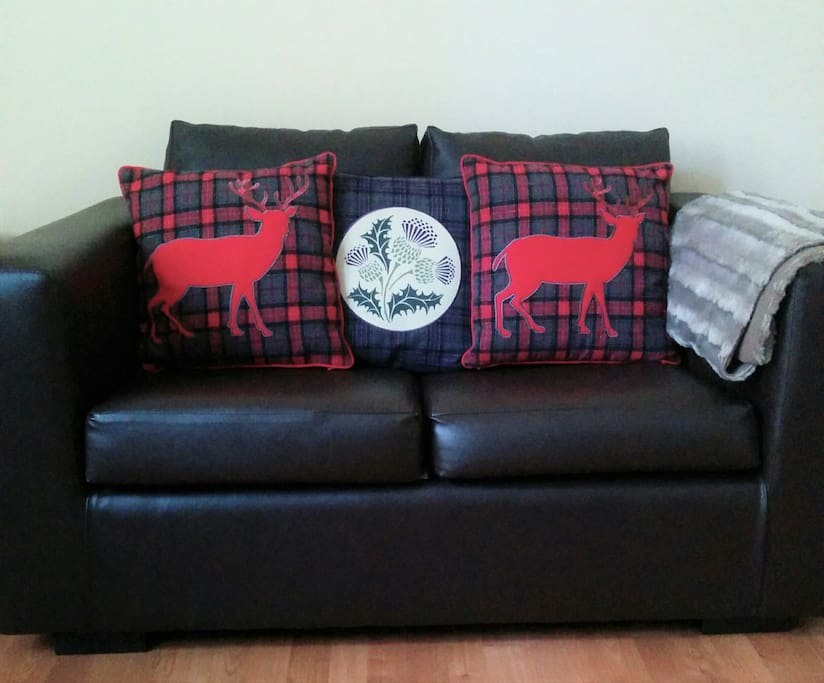 Comfy sofa with Scottish style