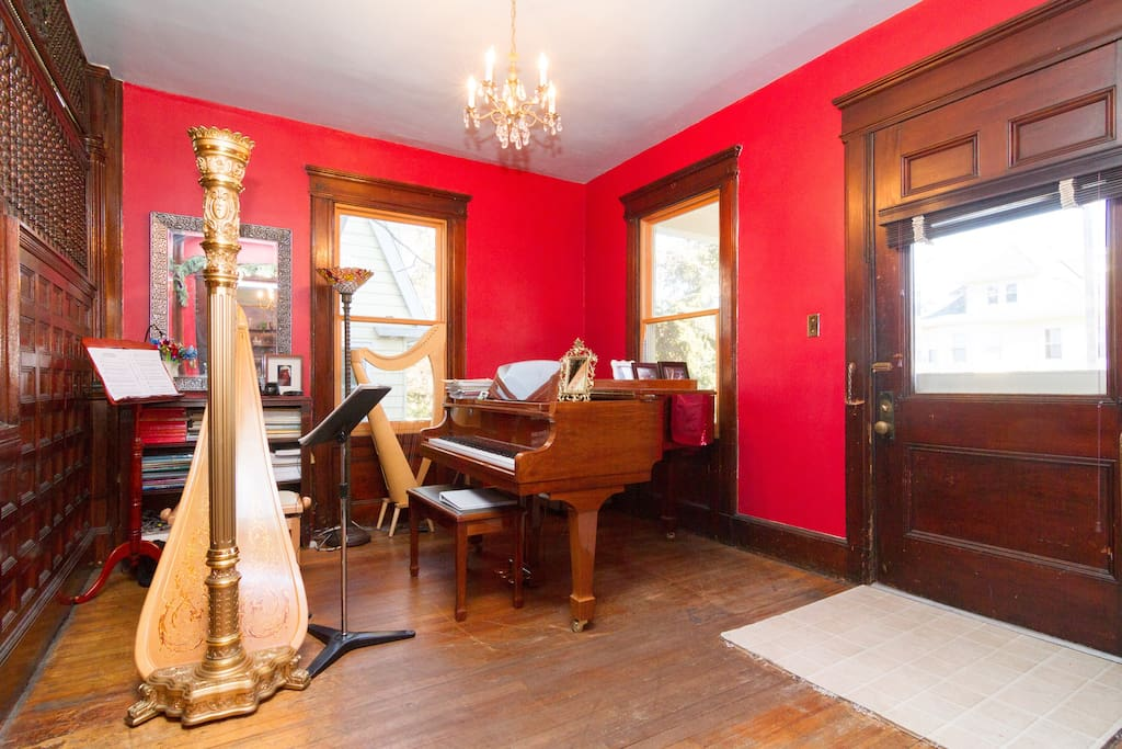Foyer of the house has many musical instruments - voice lessons available upon request