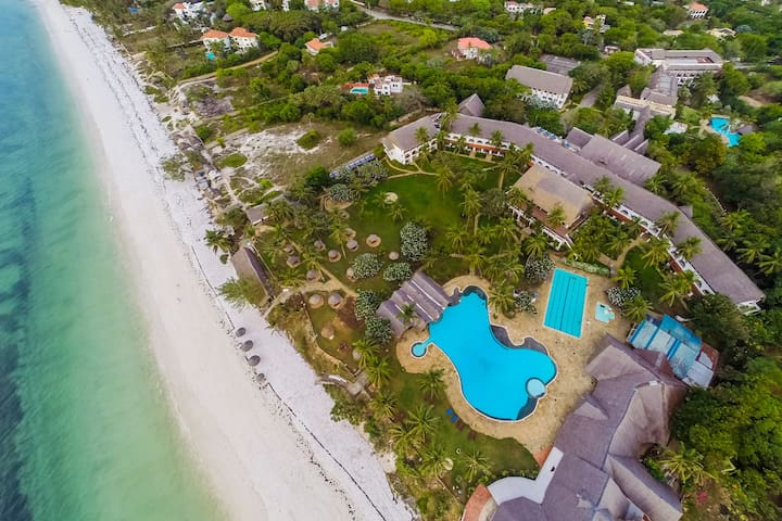 2 BR flat in gated Nyali resort on the beach.