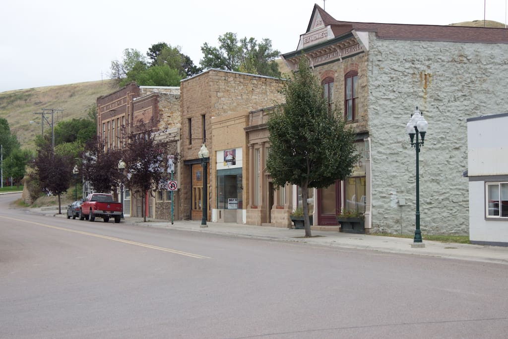 Historic downtown Belt, on the National Registry of Historical Places.  Once a coal mining town.
