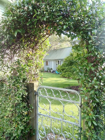 Your entry to peaceful rest - at the bottom of the garden. Please close the gate to keep the rush hour out.