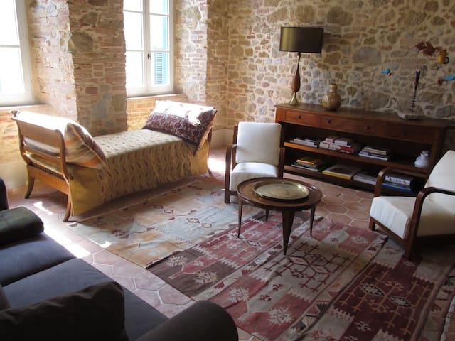 Casa Parva - Romantic Apt for 2 - Montisi - Apartament