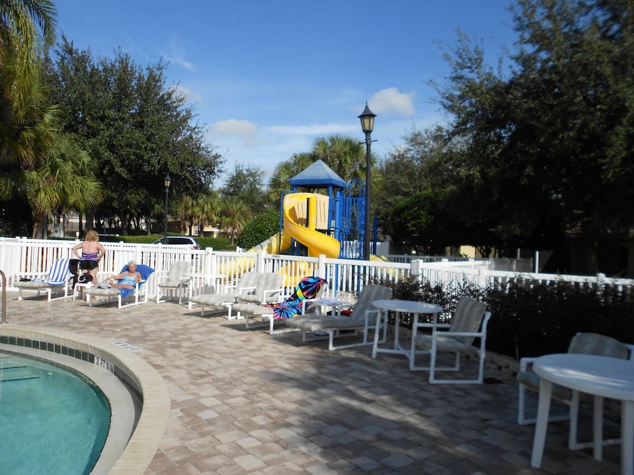Main pool deck and children's play area