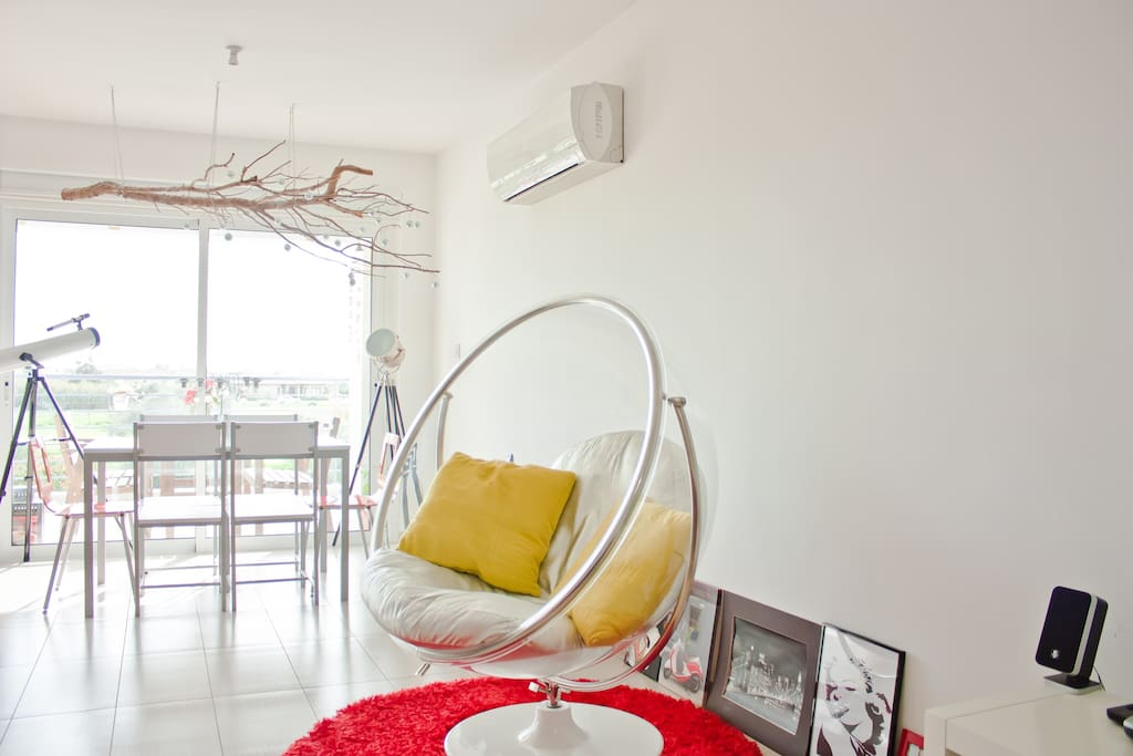 Dinning area with swinging chair!