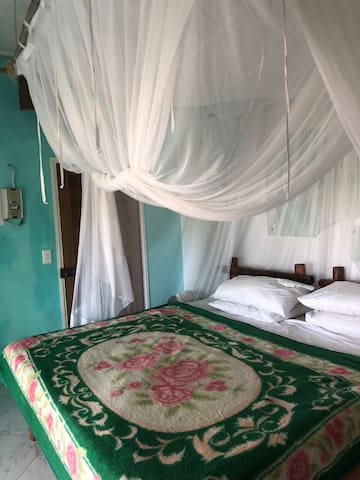 Private double room with sea and beach views