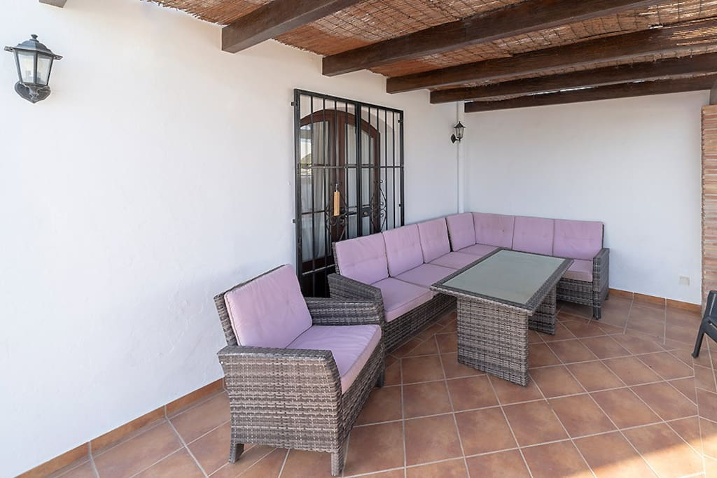Lounge area in the private terrace