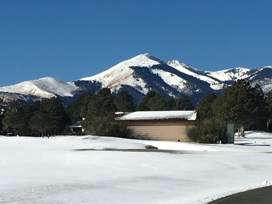 Sierra Blanca from golf course