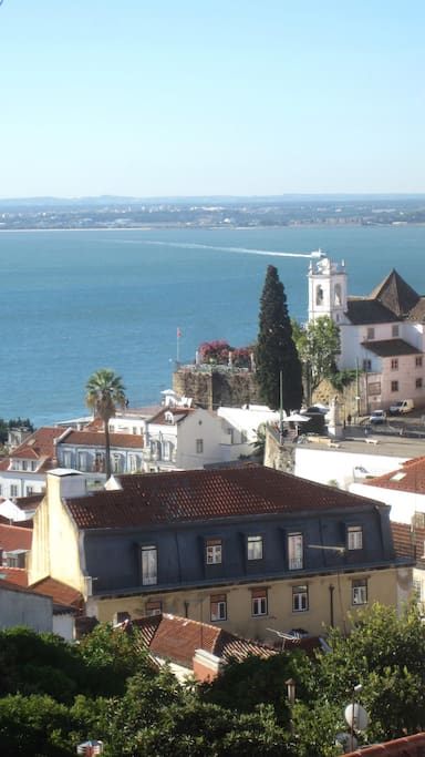 Tagus river view from bathroom window