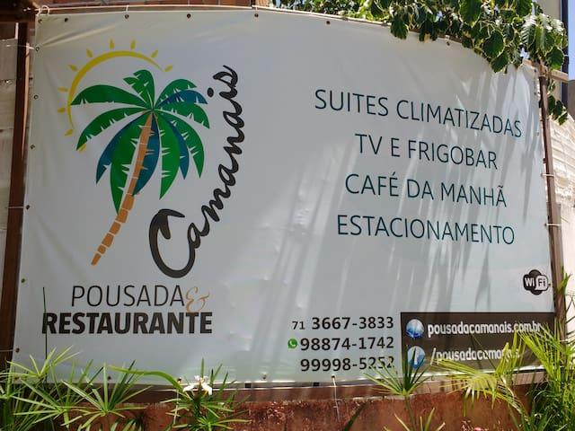 Pousada e Restaurante Camanais - Mata de São João - ที่พักพร้อมอาหารเช้า