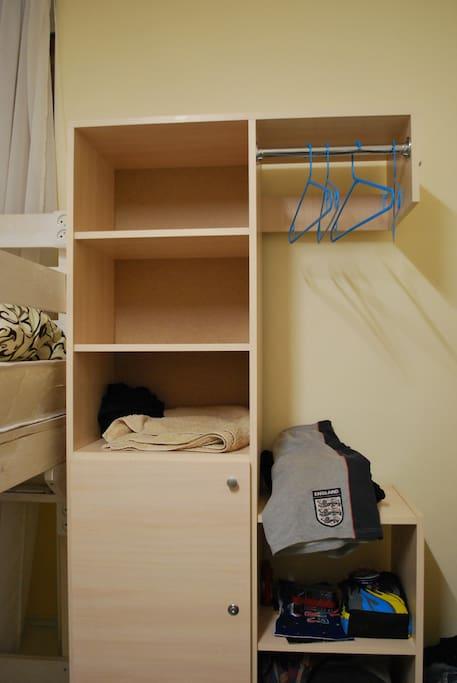 места для Ваших вещей