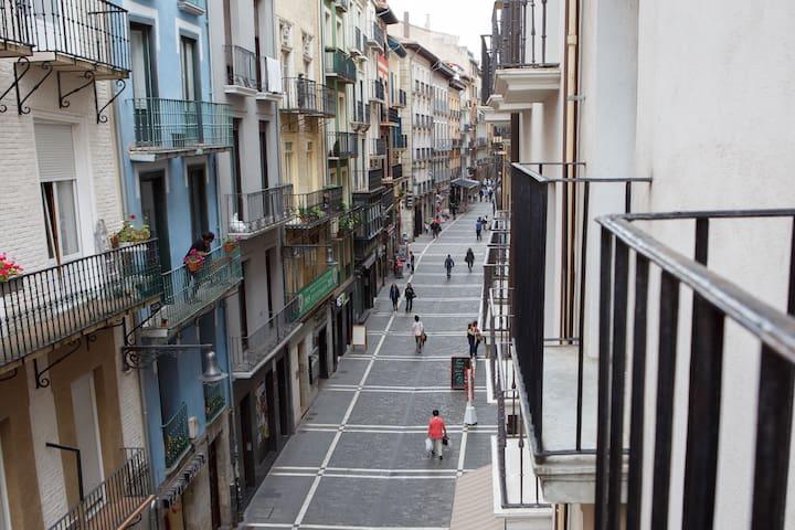 Balconies to see bull run, balcones c/estafeta - Pamplona - Appartement