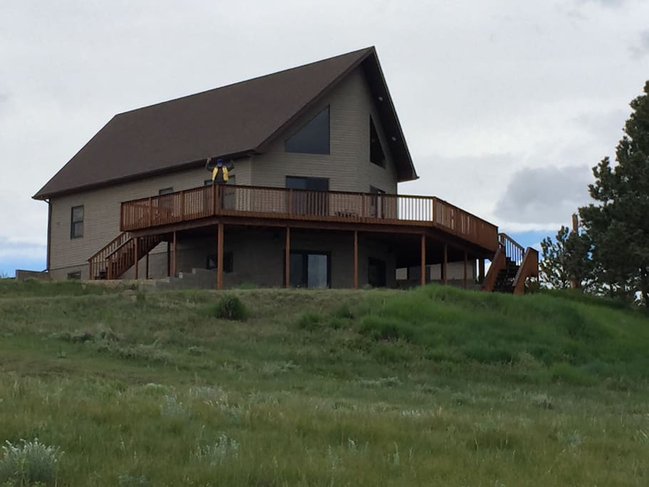 Outside view and wrap around deck