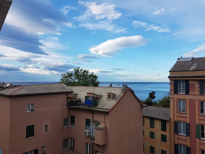 Nervi Apartment with sea and park views (Parking)