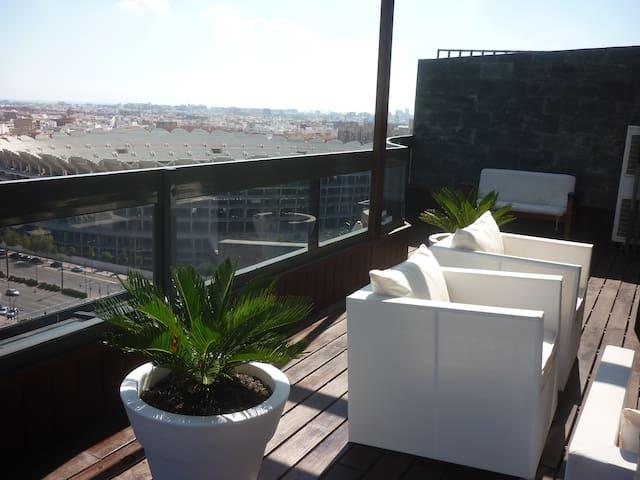 Penthouse de diseño en Palacio de Congresos - Valência - Apartamento