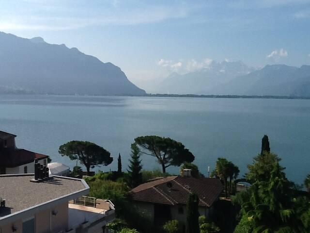 Ravissant studio meublé avec vue spectaculaire - Montreux
