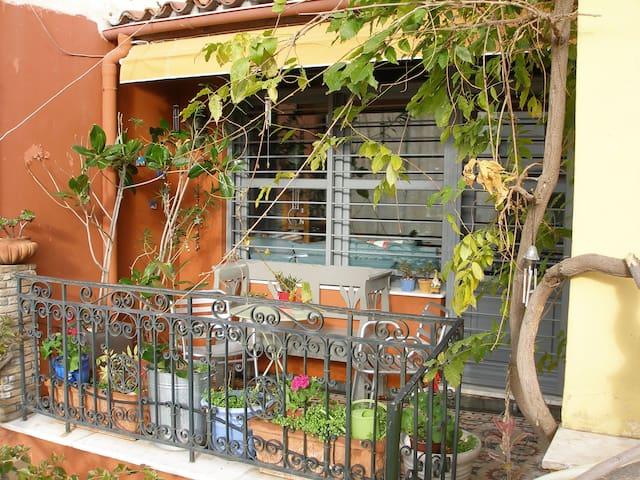 Balcony at room's front door