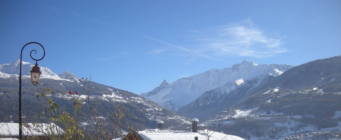 Beautiful and sunny F1 (gnd-floor) in the mountain - Les Chapelles - Appartement