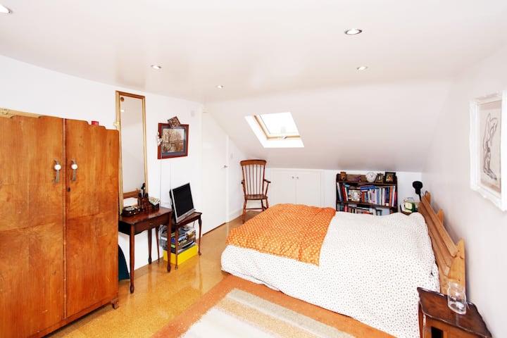 Double bedroom in loft conversion