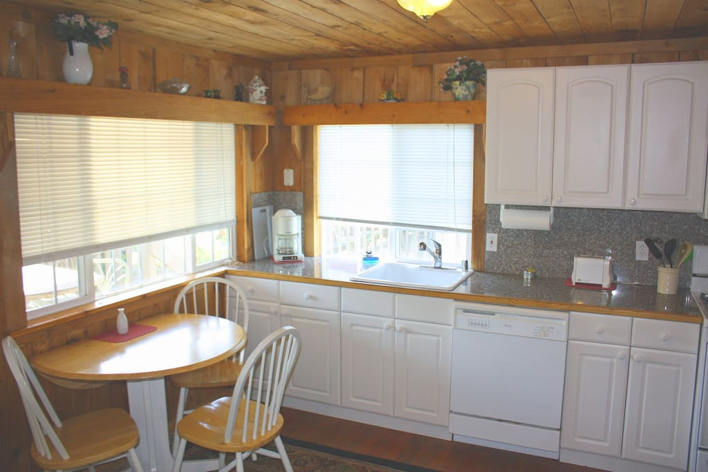 full kitchen with cookware