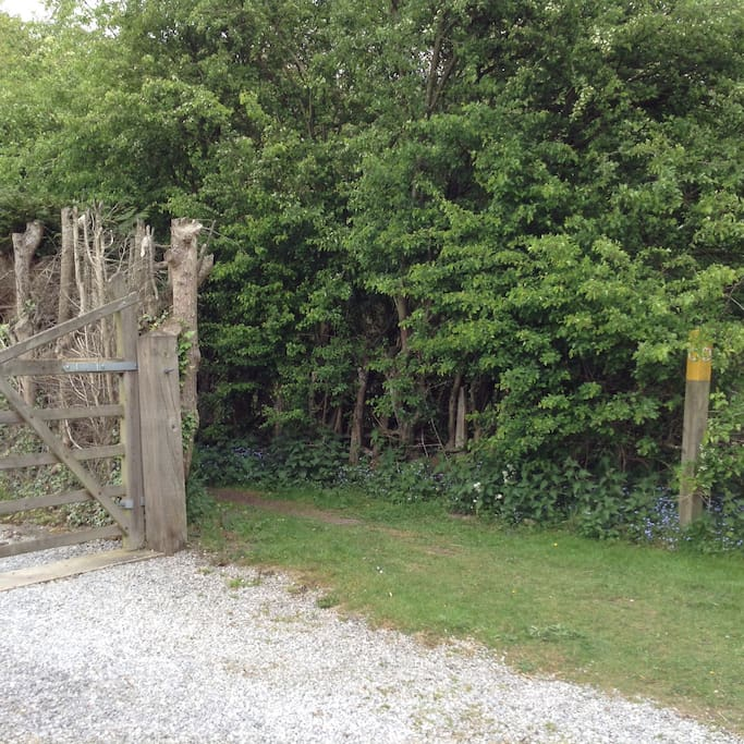 Public footpath outside our gate