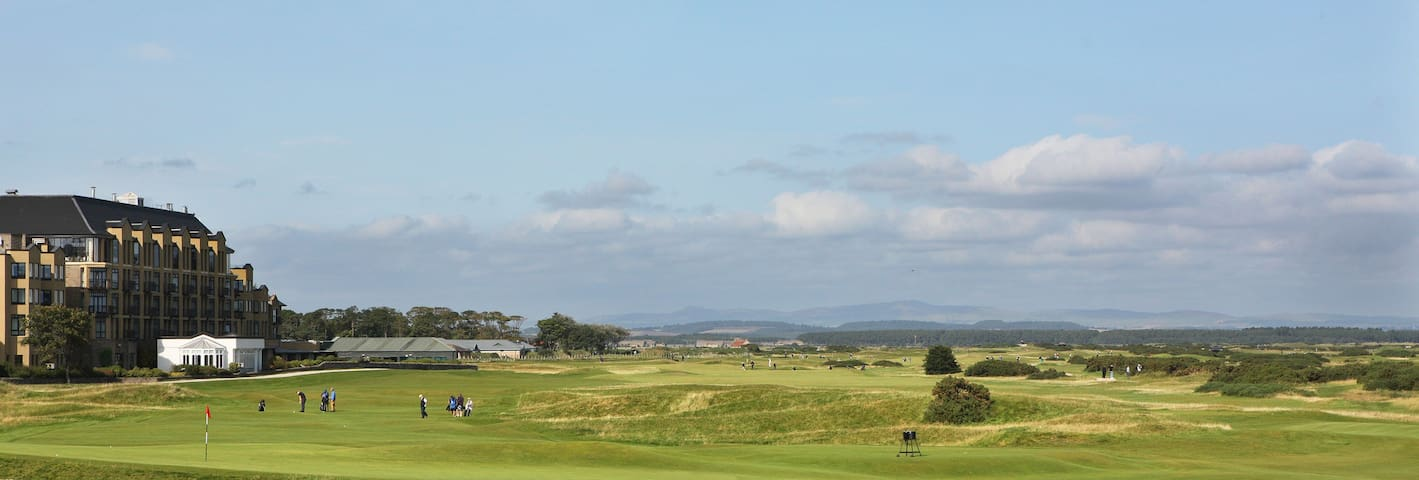 View from the lounge acroos the Old Course