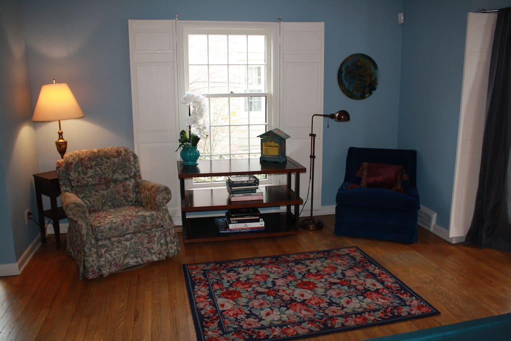 Reading area in living room