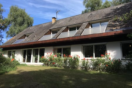 Family house, large garden, heated swimming pool - Mayet