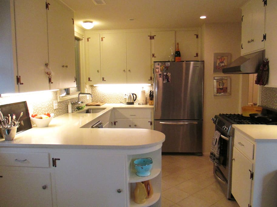Kitchen with awesome oven/range and dishwasher