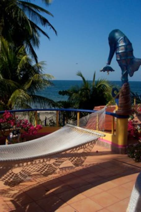 The Terraza Suite with a 180 degree view of the ocean complete with hammock in which to relax and enjoy your vacation.