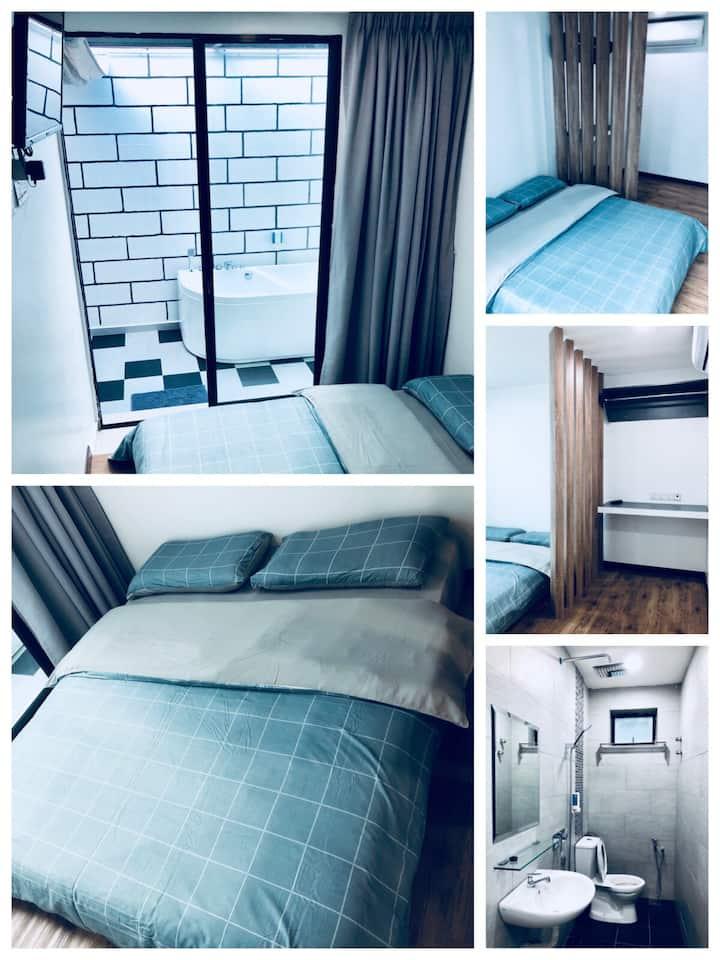 Jacuzzi+Luxury Room 2pax W-INN Kuantan Homestay
