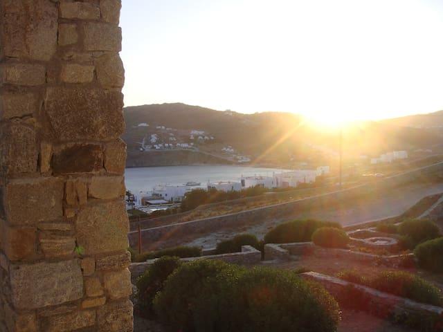 view towards Kalo Livadi beach from the veranda