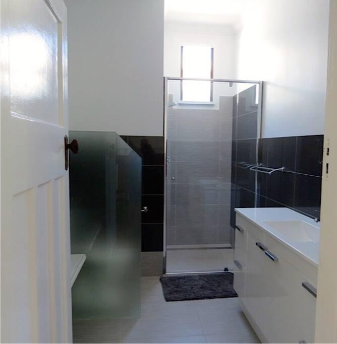 Spacious airy bathroom