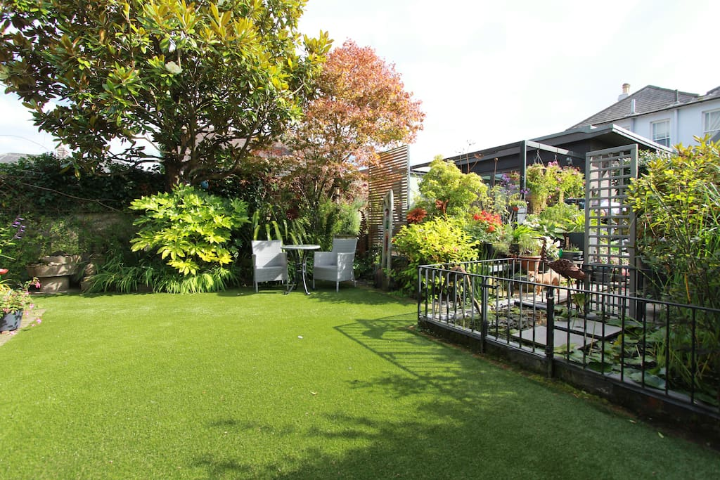 View from studio to shared garden