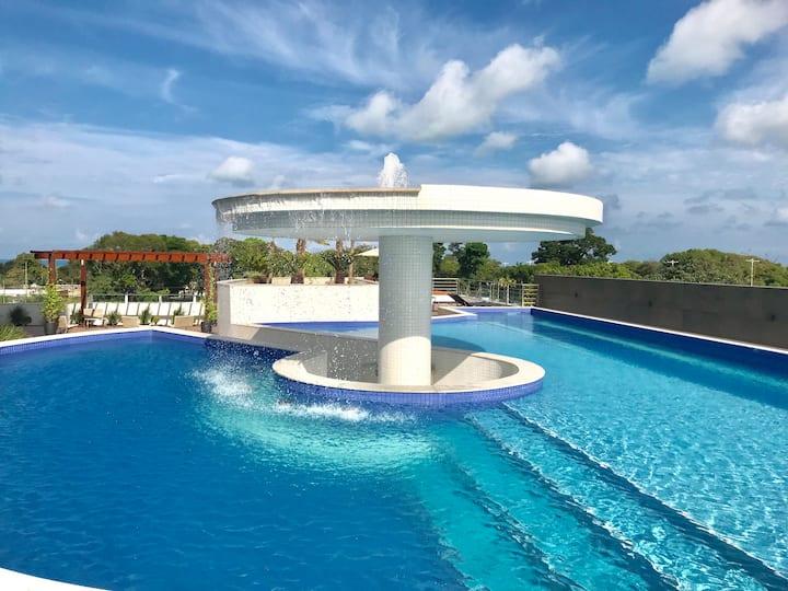 2 Quartos em Apt Spa-Resort com vista