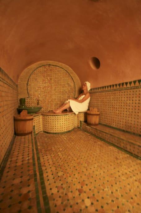 private hammam and bathroom