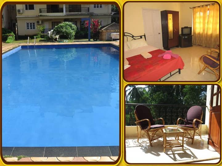 38) Serviced Apartment with WiFi - Calangute