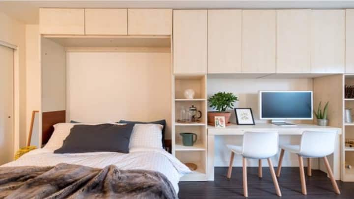 super clean, modern gastown studio