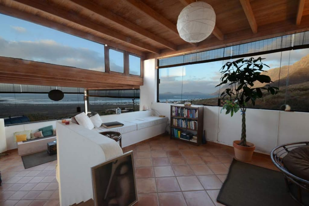 Modern living room based on two levels