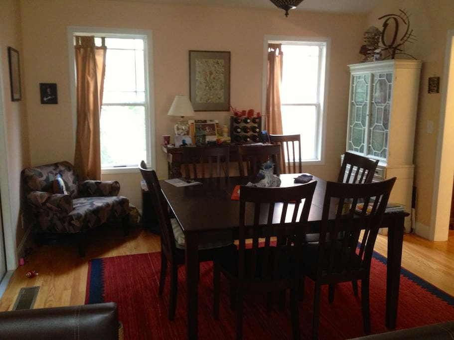 Our dining room, open to the kitchen and the living room.