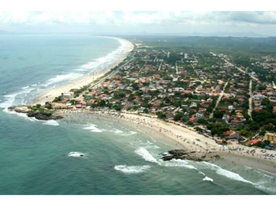 Nossa cidade possuí 32KM de praia.