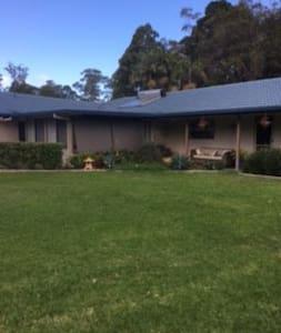 Large family home on acreage - House