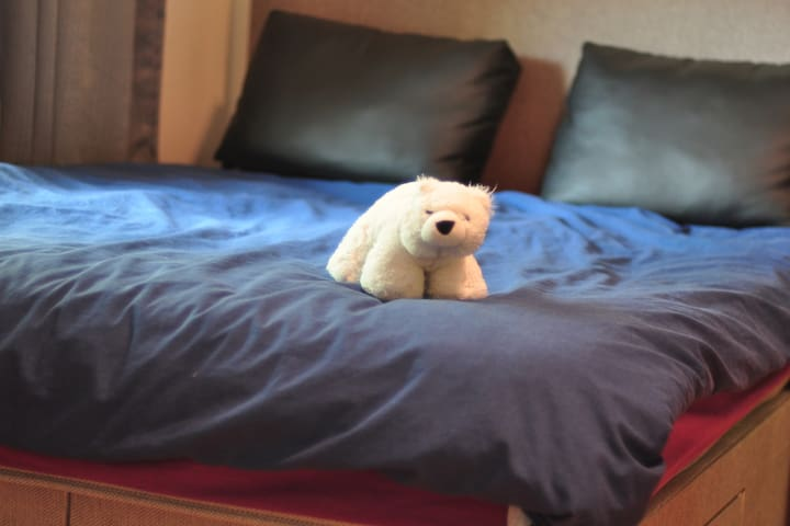 Double bed flat with double mattress, Canada Water