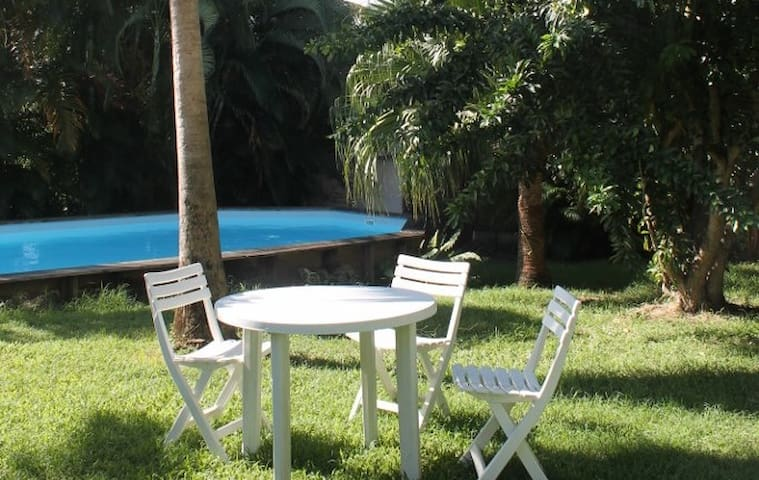 Charming studio with swimming pool - Sainte-Anne - Appartement