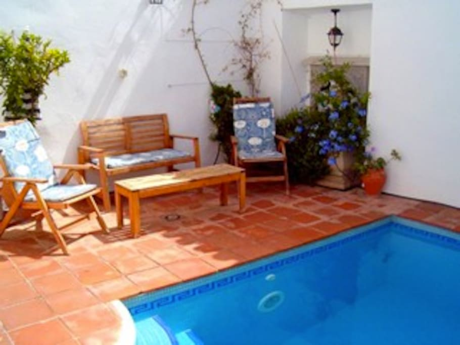 Ground floor terrace area with small plunge pool.