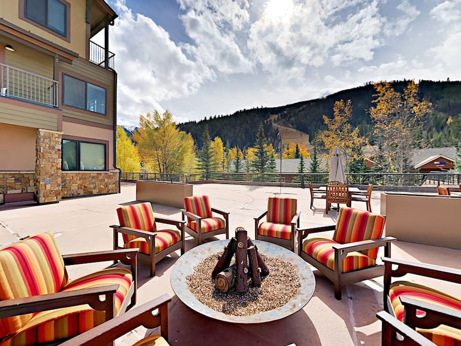 Mountain views at Slopeside Condominiums. This studio is professionally managed by Turnkey Vacation Rentals.