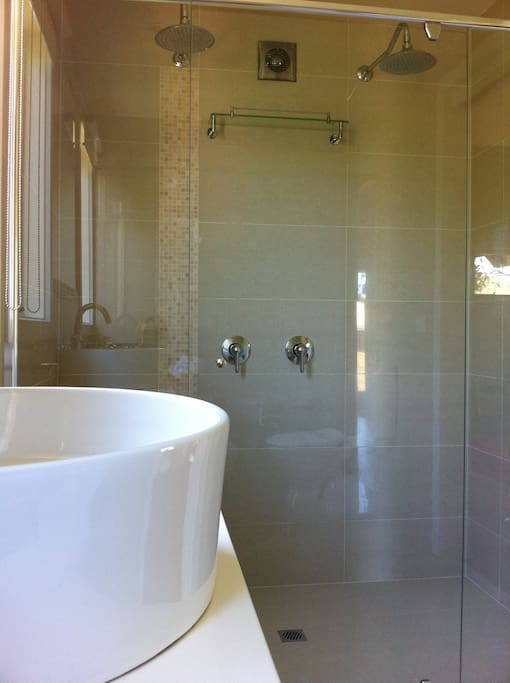 elite stays getaway - bathroom with double shower