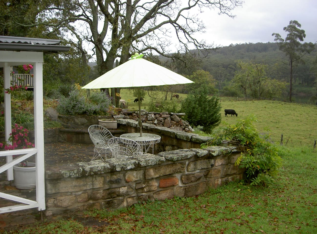 The cottage courtyard